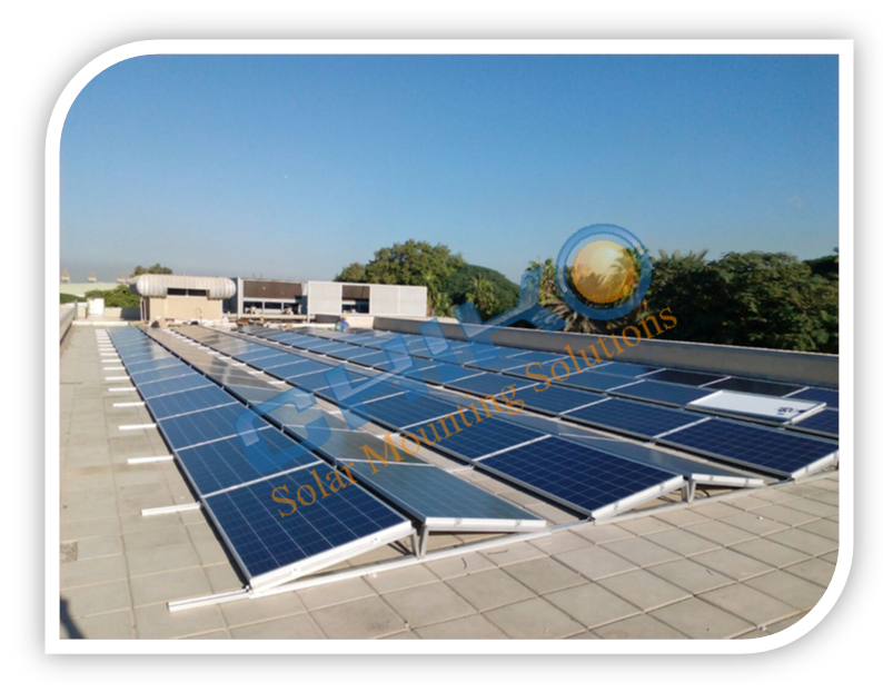650kw Solar Power System Commercial Flat Roof Solution