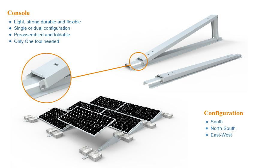Ballast I Solar System_Chiko Solar Mounting System