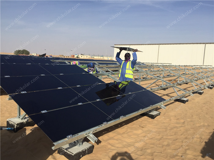 UAE 2.7MW Project-CHIKO Thin Film Module Ground Solar Mounting System